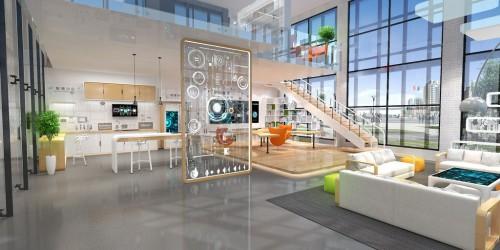 美的智能家居体验厅展台设计