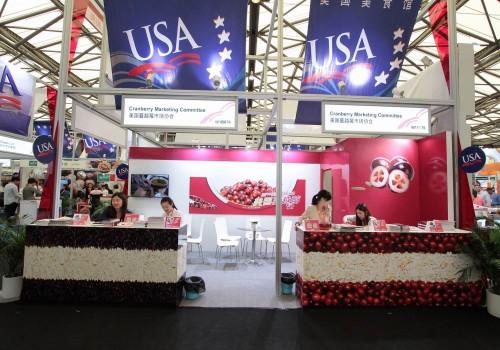 美国蔓越莓展台设计