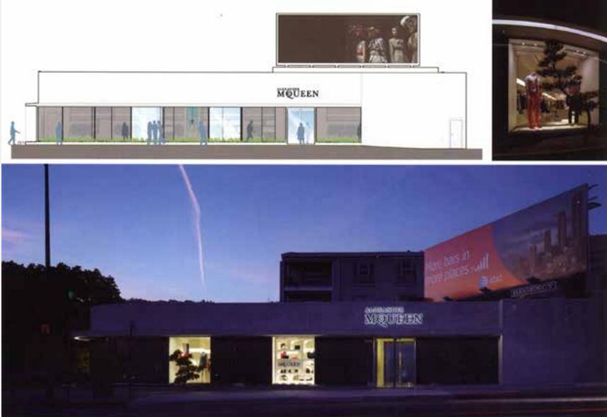 洛杉矶McQueen商店展示设计图